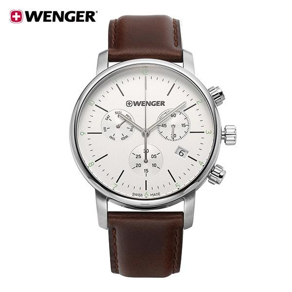 [웽거 WENGER] 01.1743.101 스위스 정식수입 본사정품 가죽 시계 44mm
