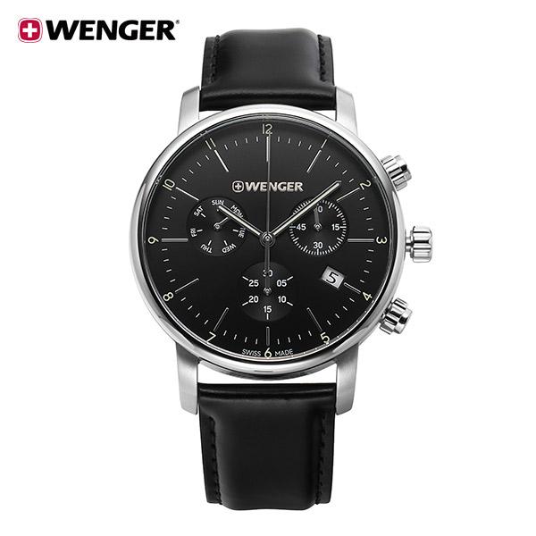 [웽거 WENGER] 01.1743.102 스위스 정식수입 본사정품 가죽 시계 44mm