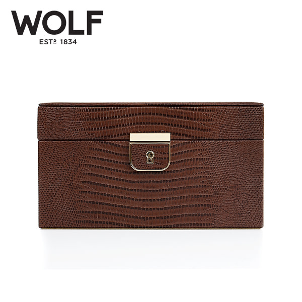 [울프 WOLF] 213195 (Palermo Small Box Brown) / 보석함 Jewel Box