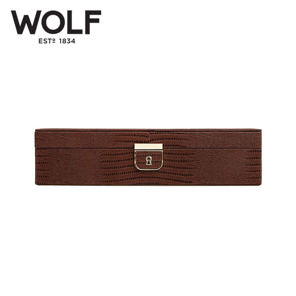 [울프 WOLF] 213295 (Palermo Medium Box Brown) / 보석함 Jewel Box