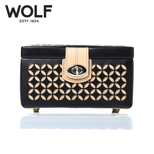 [울프 WOLF] 301102 (Chloe Small Box Black) / 보석함 Jewel Box