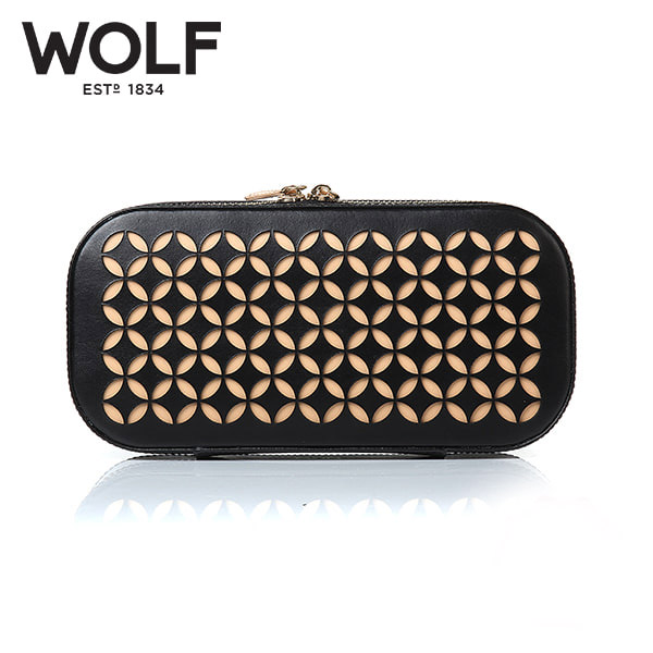 [울프 WOLF] 301202 (Chloe Zip Case Black) / 보석함 Jewel Box