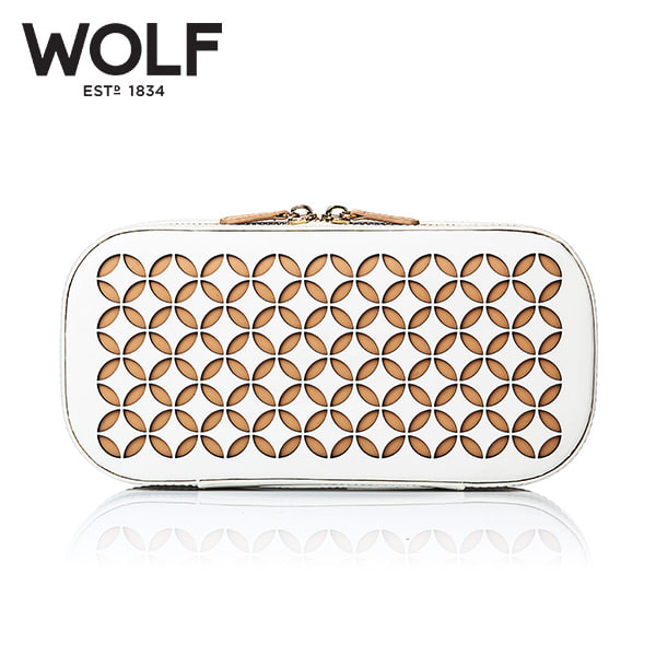 [울프 WOLF] 301253 (Chloe Zip Case Cream) / 보석함 Jewel Box
