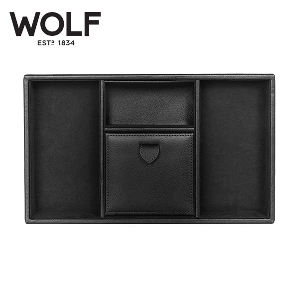 [울프 WOLF] 305102 / 보석함 Blake Valet tray Black Pebble 타임메카