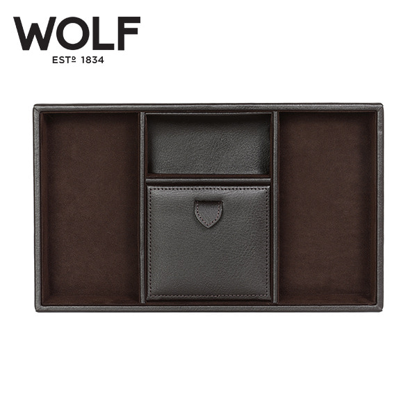 [울프 WOLF] 305106 / 보석함 Blake Valet tray Brown Pebble 타임메카