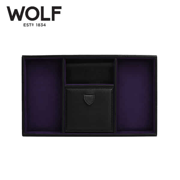 [울프 WOLF] 305128 / 보석함 Blake Valet Tray Black Pebble 타임메카