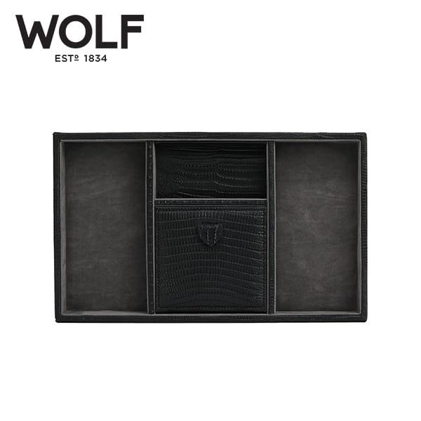 [울프 WOLF] 305158 (Blake Valet Tray Black Lizard) / 보석함 Jewel Box