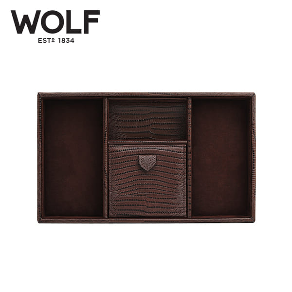 [울프 WOLF] 305195 (Blake Valet Tray Brown Lizard)