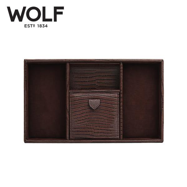 [울프 WOLF] 305195 (Blake Valet Tray Brown Lizard) / 보석함 Jewel Box
