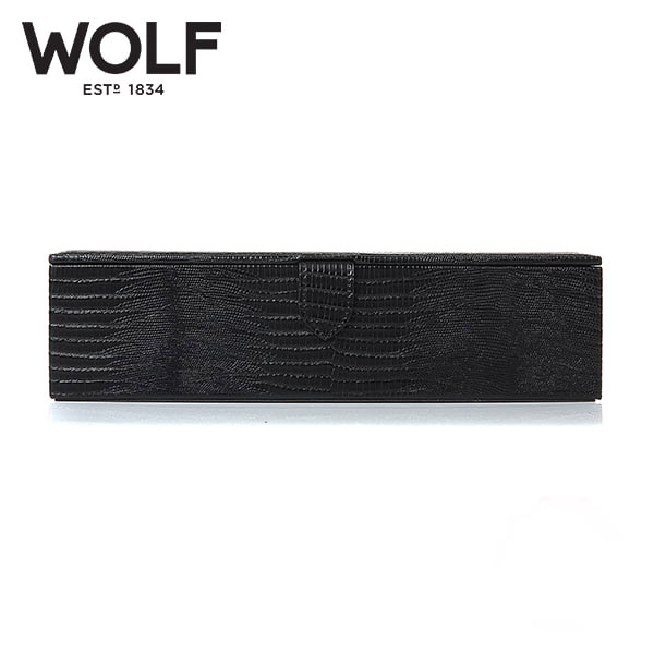 [울프 WOLF] 305558 (Blake Watch Box Black Lizard) / 시계보관함 Watch Cubbyhole