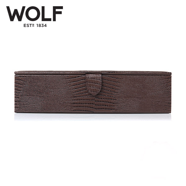 [울프 WOLF] 305595 (Blake Watch Box Brown Lizard) / 시계보관함 Watch Cubbyhole