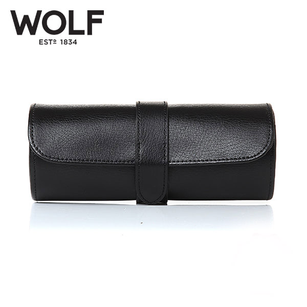 [울프 WOLF] 305628 (Blake Watch Roll Black Pebble) / 시계보관함 Watch Cubbyhole