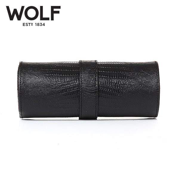 [울프 WOLF] 305658 (Blake Watch Roll Black Lizard) / 시계보관함 Watch Cubbyhole