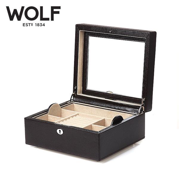 [울프 WOLF] 315206 (London Square Box Cocoa) / 보석함 Jewel Box