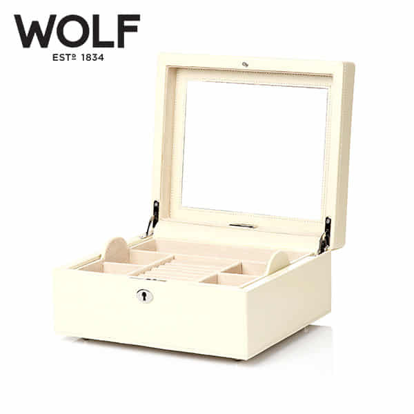 [울프 WOLF] 315253 (London Square Box Cream) / 보석함 Jewel Box
