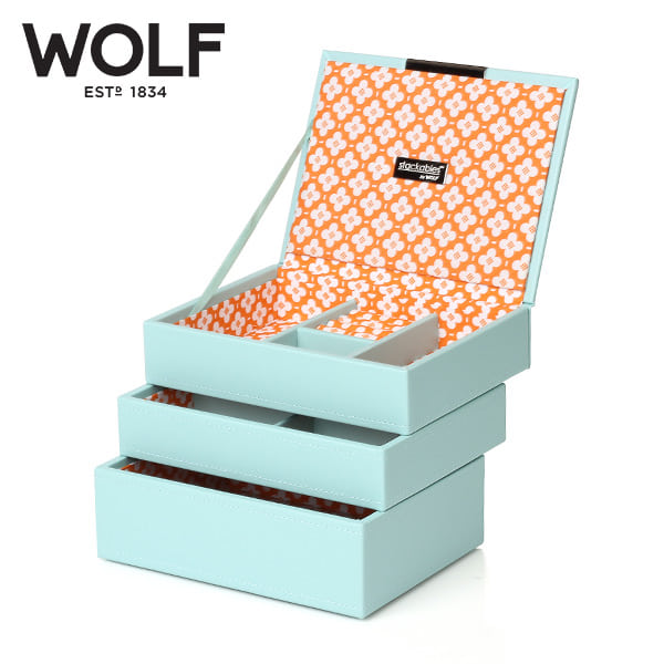 [울프 WOLF] 318305 (Stackables Mini Set Aqua) / 보석함 Jewel Box