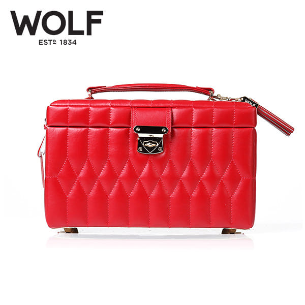 [울프 WOLF] 329772 (Caroline Medium Box Red) / 보석함 Jewel Box