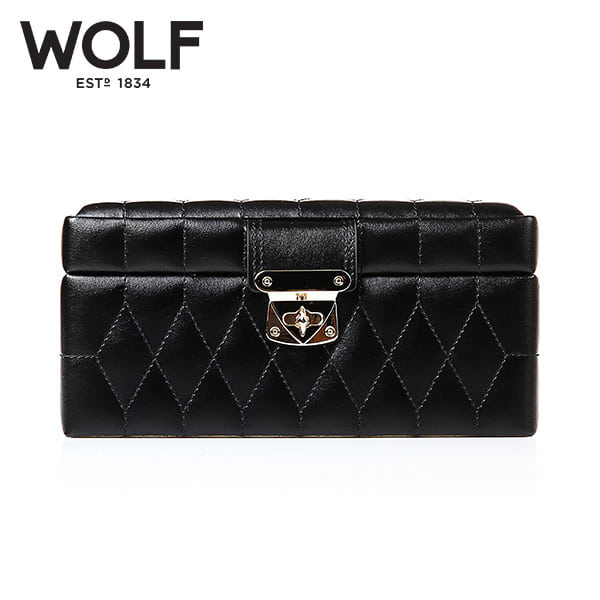 [울프 WOLF] 329871 (Caroline Small Box Black) / 보석함 Jewel Box
