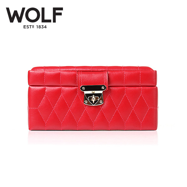 [울프 WOLF] 329872 (Caroline Small Box Red) / 보석함 Jewel Box