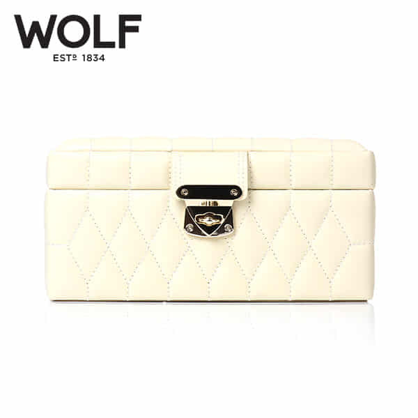 [울프 WOLF] 329877 (Caroline Small Box Cream) / 보석함 Jewel Box