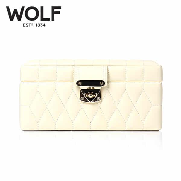 [울프 WOLF] 329877 (Caroline Small Box Cream) / 보석함 Jewel Box