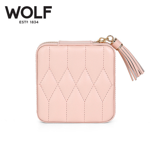 [울프 WOLF] 329915 / 보석함 Caroline Zip Case Rose Quartz 타임메카
