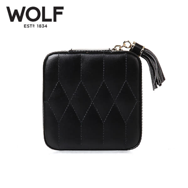 [울프 WOLF] 329971 (Caroline Zip Case Black) / 보석함 Jewel Box