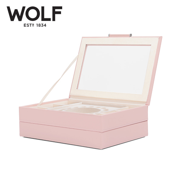 [울프 WOLF] 392115 / 보석함 Sophia Stackable Trays Rose Quartz 타임메카