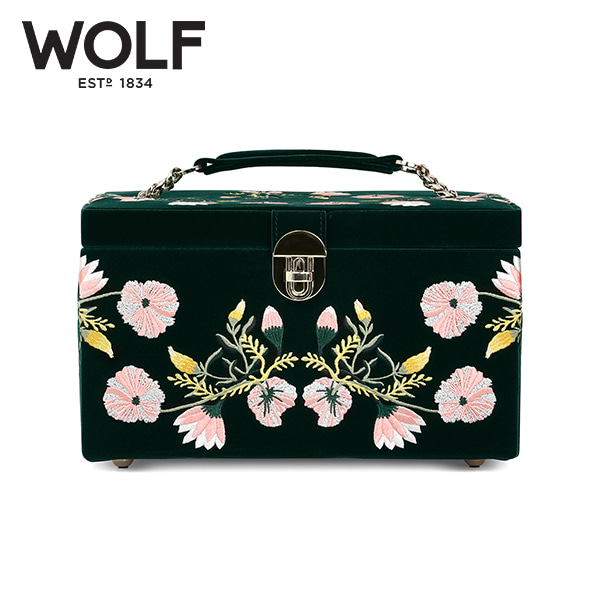 [울프 WOLF] 393112 / 보석함 Zoe Medium Jewelry Case Green 타임메카
