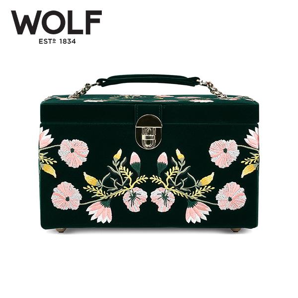 [울프 WOLF] 393112 / 보석함 Zoe Medium Jewelry Case Green 타임메카