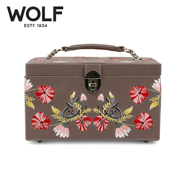 [울프 WOLF] 393113 / 보석함 Zoe Medium Jewelry Case Mink 타임메카