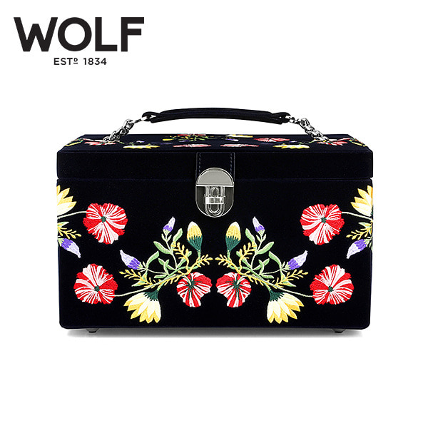 [울프 WOLF] 393116 / 보석함 Zoe Medium Jewelry Case Indigo 타임메카