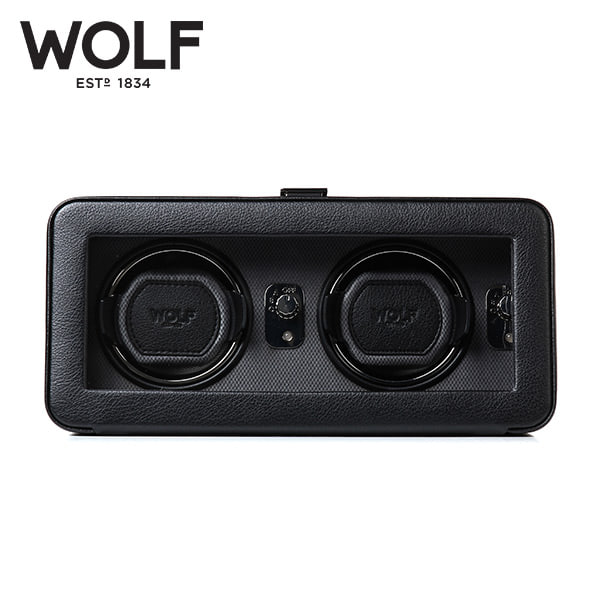 [울프 WOLF] 4526029 (Windsor Double Winder Blk) / 워치와인더 Watch Winder