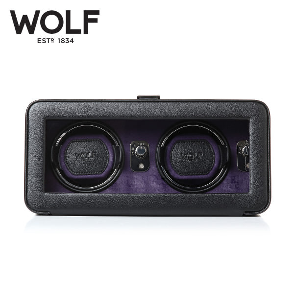 [울프 WOLF] 452603 (Windsor Double Winder Blk/Pur) / 워치와인더 Watch Winder