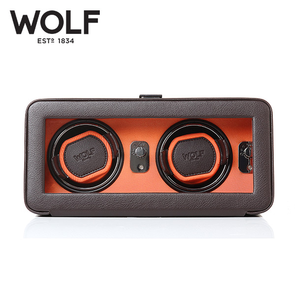 [울프 WOLF] 452606 (Windsor Double Winder Brw/Org) / 워치와인더 Watch Winder