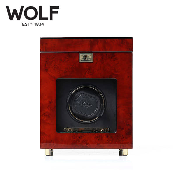[울프 WOLF] 454510 (Savoy Single Winder w/ Stg Bur) / 워치와인더 Watch Winder