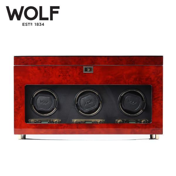 [울프 WOLF] 454710 (Savoy Trp Winder w/ Stg Burl) / 워치와인더 Watch Winder