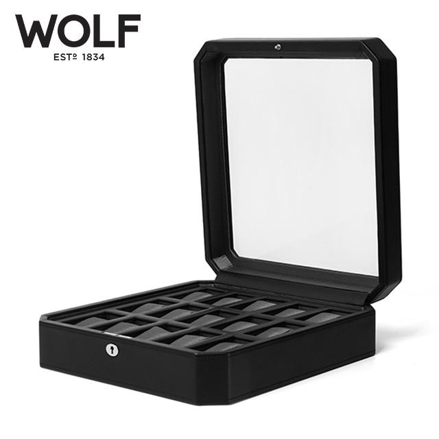[울프 WOLF] 4585029 / 시계보관함 15구 Windsor 15pc Watch Box Blk 타임메카