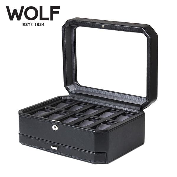[울프 WOLF] 4586029 / 시계보관함 10구 2단 보석함 Windsor 10pc Watch Box w/ Draw 타임메카