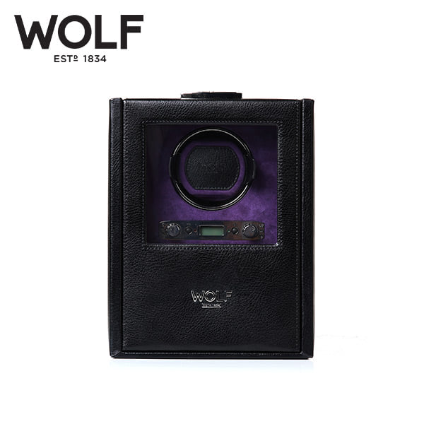 [울프 WOLF] 460628 (Blake Single Winder Black Peb) / 워치와인더 Watch Winder