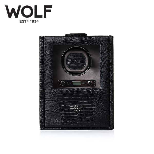 [울프 WOLF] 460658 (Blake Single Winder Black Liz) / 워치와인더 Watch Winder