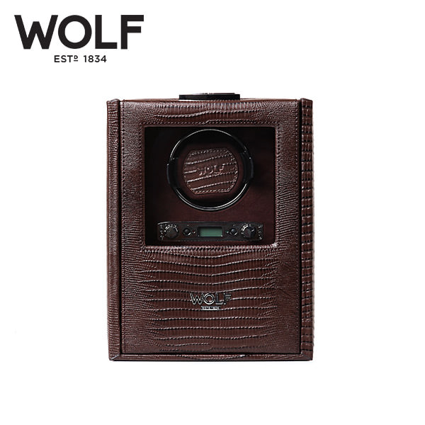 [울프 WOLF] 460695 (Blake Single Winder Brown Liz) / 워치와인더 Watch Winder