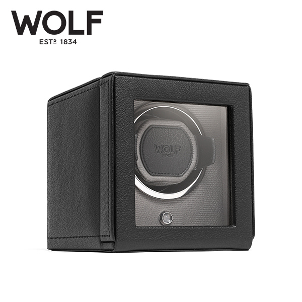[울프 WOLF] 461103 (Cub Winder w Cover Blk) / 워치와인더 Watch Winder