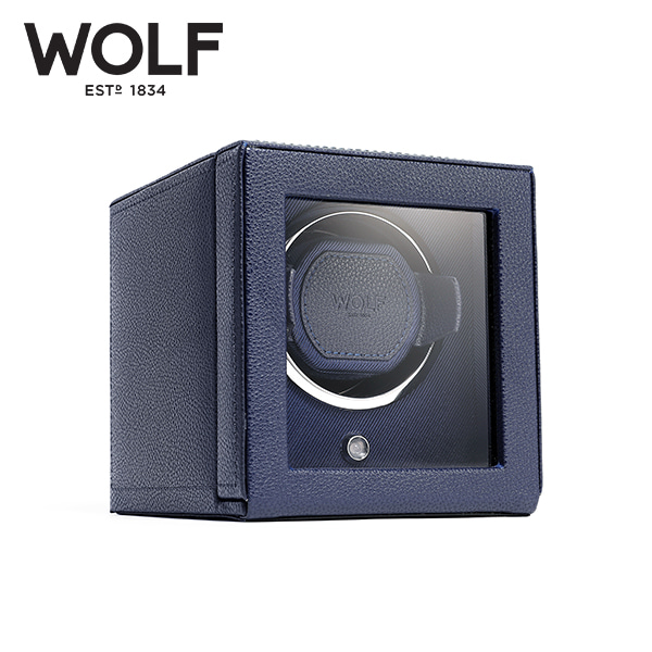 [울프 WOLF] 461117 (Cub Winder w Cover Navy) / 워치와인더 Watch Winder