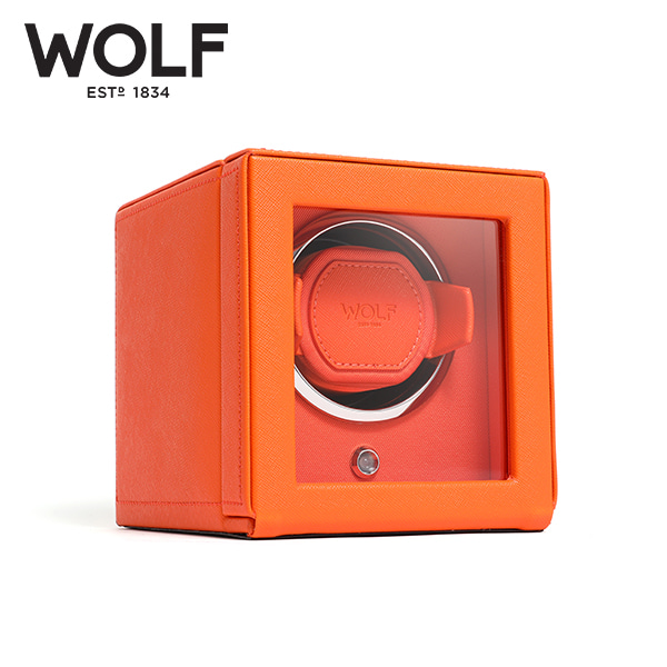 [울프 WOLF] 461139 (Cub Winder w Cover Orange) / 워치와인더 Watch Winder