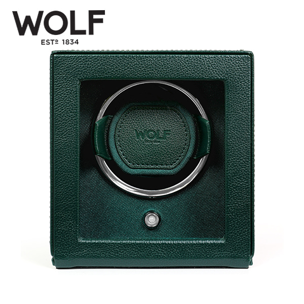 [울프 WOLF] 461141 / 워치와인더 1구 Cub Winder w Cover Green 타임메카