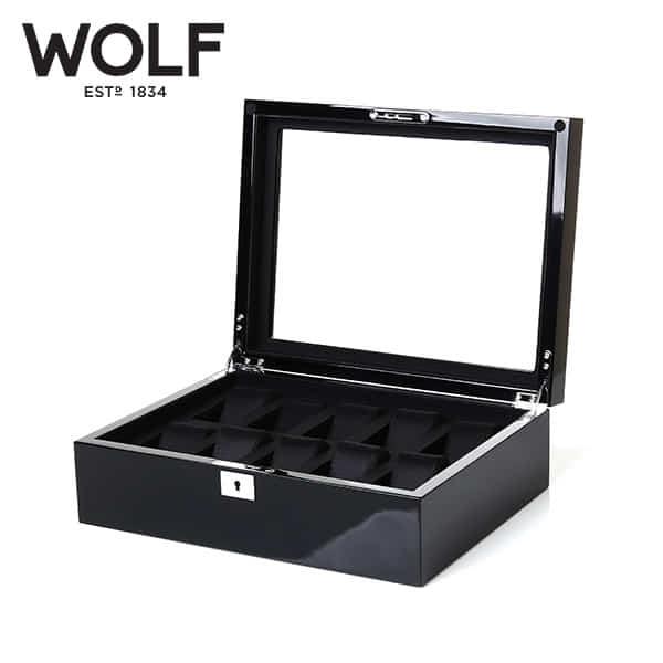 [울프 WOLF] 461670 / 시계보관함 10구 Savoy 10pc Watch Box Blk 타임메카