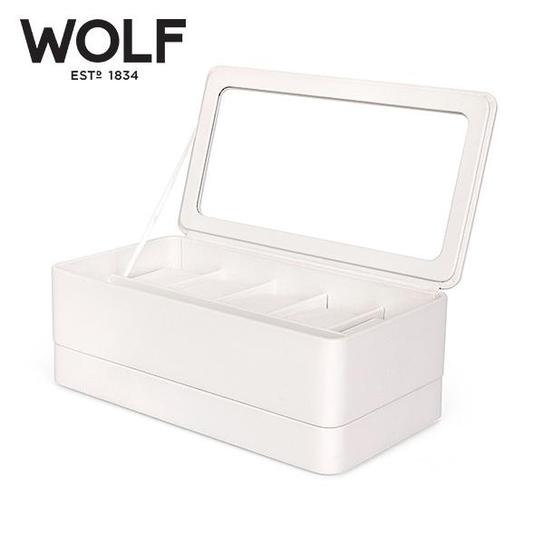 [울프 WOLF] 463101 / 시계보관함 Smart Storage 6pc Watch Box White 타임메카