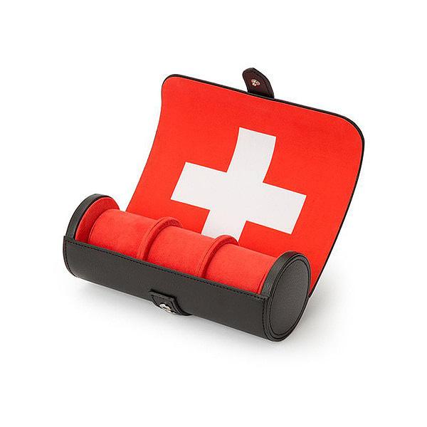 [울프 WOLF] 766593 / 시계보관함 3구 Navigator Swiss Flag Triple Watch Roll 타임메카