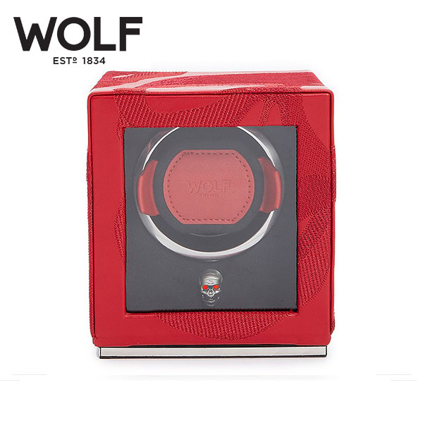 [울프 WOLF] 493172 / 워치와인더 1구 Memento Mori Cub Red 1pc Watch Winder '해외오더 제품' 타임메카